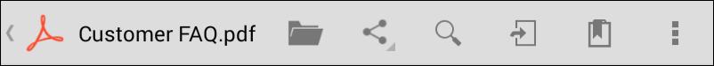 Document Toolbar