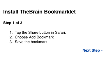 Bookmarklet: Step 1