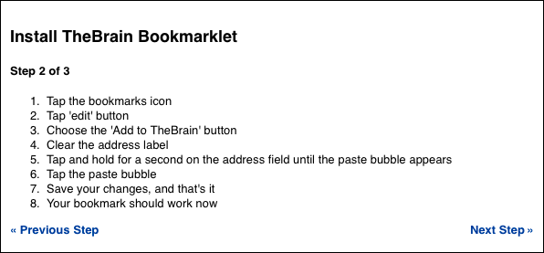 Bookmarklet: Step 2