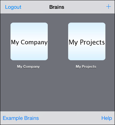 Brains List Toolbar