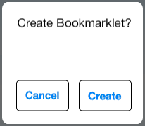 Create Bookmarklet