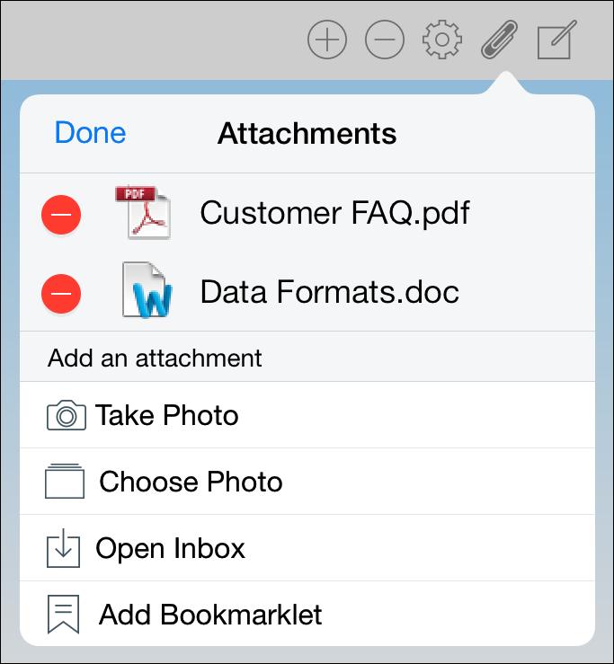 Edit Attachments